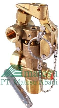 System valve for extinguishers cylinders